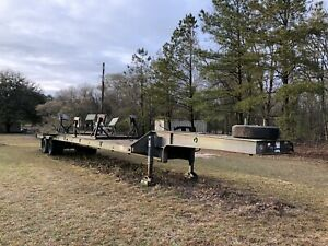 1990 Fontaine Military Drop Deck 20 Ton Semi Flatbed Trailer