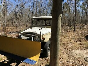 1972 Toyota Fj40 For Parts W Fisher Speedcast Snow Plow Plus Extras
