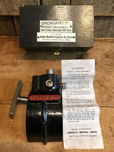 Antique Dronsfield s Micrometer Setting Gauge No 196 John Hetherington Sons Ma