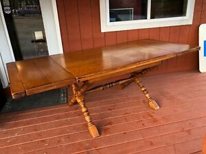 1960s Maple Walter Of Wabash Harvest Table Shipping Available