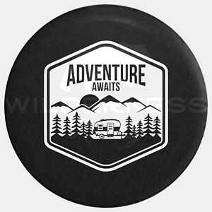 Spare Tire Cover For Jeep Wrangler Camper Rv Jk Tj Yj