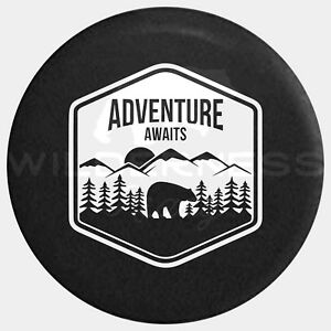 Spare Tire Cover For Jeep Wrangler Camper Rv Jk Tj Yj Bear Adventure Badge