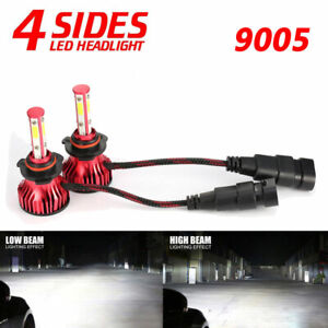 4 Sides 9005 Hb3 H10 9145 Led Headlight Conversion Kit 2000w 6000k 300000lm Bulb
