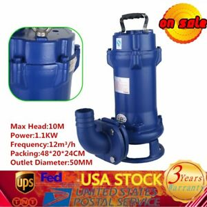 Heavy Duty Submersible Sewage Dirty Water Pump Float Switch For Industrial 1 1kw