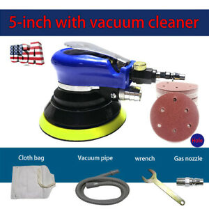 New 5 Air Palm Orbital Sander Random Hand Sanding Pneumatic Round Free Shipping