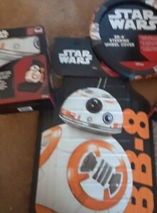 New Disney Star Wars Bb 8 Car Truck Front Seat Cover Steering Wheel Cover Set