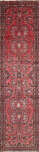 Lilian 4x14 Wool Hand Knotted One Of A Kind Floral Oriental Runner Rug
