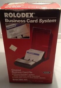 Rolodex Business Card File Cbc 200 Index Tabs 100 Clear Sleeves Covered