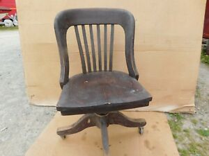 Vintage Mahogany 1940 S Office Chair