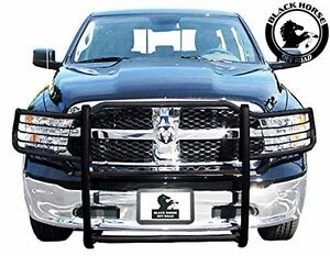 Black Horse 2009 2018 Dodge Ram 1500 Black Grille Brush Bumper Guard 17dg109ma