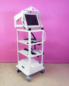 Promedica Inc Smith Nephew Endoscopy Tower Cart Stand W Radiance 19 Monitor