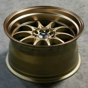 4 New 15 Mst Mt11 Wheels 15x8 4x100 4x114 3 0 Bronze Bronze Lip Rims