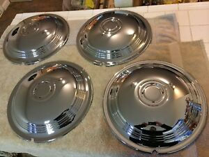 1939 40 Lasalle Hubcaps perfect Set Of 4