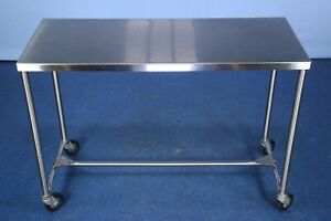 Stainless Rolling Medical Table Medical Instrument Procedure Table With Warranty