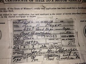 1941 Studebaker 2dr Historical Paperwork Document Hot Rod Project