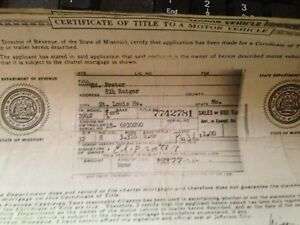 1942 Ford 4dr Historical Paperwork Document Hot Rod Project