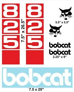 825 Replacement Decals Sticker Kit Skid Loader fits Bobcat