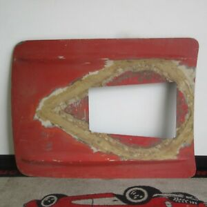 1961 1962 Corvette Hood With Blower Hole Press Molded Fiberglass Original 61 62