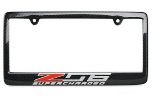 C7 Corvette 2014 2019 Carbon Fiber License Plate Frame With Z06 Logo