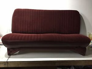 88 89 90 91 92 93 94 Chevy Gmc 1500 2500 Standard Cab Bench Seat Maroon Red