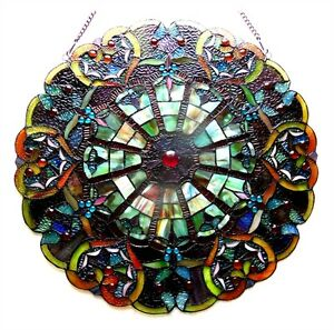 Round Tiffany Style Stained Glass Victorian Window Panel 23 One This Price