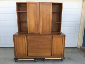 Heritage Henredon Mid Century Modern Server Buffet With Removable Top Cabinet