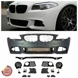 Bmw F10 Mtech Style Front Bumper Kit With Fog Lights For 2011 13 Bmw F10 No Pdcs