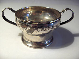 Antique National N S Co Sterling Silver Sugar Bowl National Silver Company