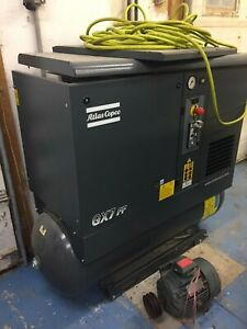 Used Atlas Copco Gx7ff 2015 Model 10 Hp Rotary Screw Air Compressor And Dryer