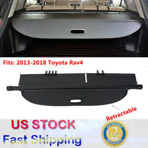 For 2013 2017 2018 Toyota Rav4 Retractable Rear Trunk Cargo Cover Luggage Shade