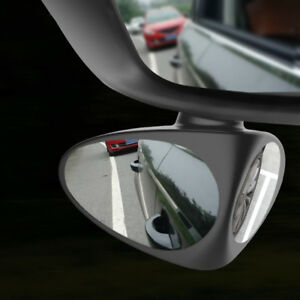 2in1 Universal Car Blind Spot Mirror Wide Angle 360 Rotation Adjustable Convex