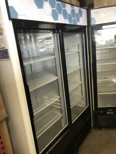 Commercial Two Glass Door Refrigerator Brand New By Migali Refiegeration