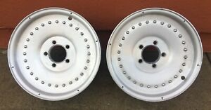 Vintage Centerline Center Line Aluminum Auto Drag 15x7 Wheels Hot Rod Nhra