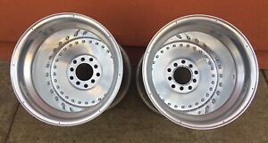 Vintage Centerline Center Line Aluminum Auto Drag 16x16 Wheels Hot Rod Dragster