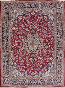 Hand Knotted Traditional Floral Najafabad Persian Orienta 10x14 Wool Area Rug