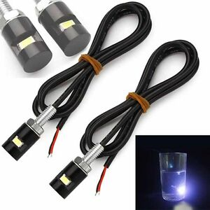 2pcs License Plate Fantastic Lamp Led Screw Car 12v Light Motorcycle Bulb Bolt