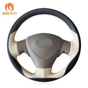 Leather Steering Wheel Cover Wrap For Toyota Corolla Matrix Auris 2007 2009