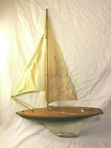 A Milbro Product Wood Boat Yacht Model
