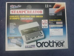 Brother P touch Stamp Creater Creat Custom Pre Inked Stamps Instantly Sc 100