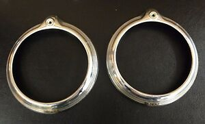 1946 1947 1948 Pontiac Headlight Bezels Doors Rings Original Gm Pair