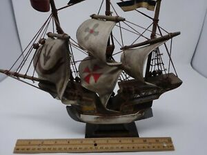 Vintage Golden Hind Spanish Galeon 15th Century Style Model Sailing Ship