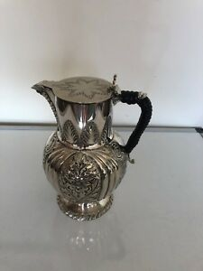 Really Nice Silver Plated Chased Coffee Water Pot On A Circular Foot Spcp 55r