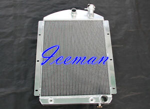 3 Row All Aluminum Radiator Fits1941 1946 Chevy Pickup Truck Chevy V8 Engine