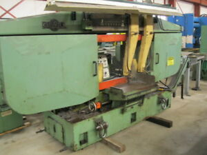 Horizontal Band Saw 25 X 25 Do all C 2525a Auto Feed 2 Blade 7 5 Hp 1989