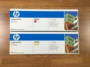 Lot Of 2 New Genuine Hp 824a Magenta Yellow Toner Cb382a Cb383a For Lj Cp6015