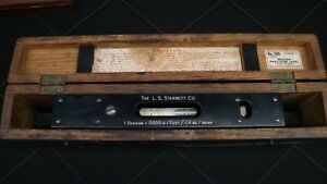 Nice Starrett No 199 Master Precision Level With Wood Case Box Made In Usa