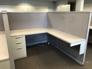 Steelcase Office Cubicles workstations Lot Of 21 Very Good Used Condition