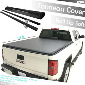 Lock Roll Up Tonneau Cover For 2007 2013 Gmc Sierra 1500 2500hd 3500 6 5 Ft Bed