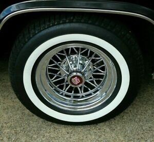 4 P225 75r 15 Inch White Wall Tires 1 3 8 Ww Band Thick Fat Wide Gangster New