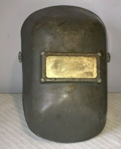 Vintage Welding Helmet With High Visibility Mirrored Protective Lens Used